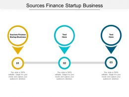 Sources Finance Startup Business Ppt Powerpoint Presentation Show Themes Cpb