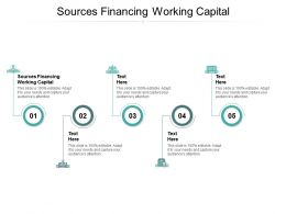 Sources Financing Working Capital Ppt Powerpoint Presentation Pictures Designs Download Cpb