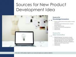 Sources For New Product Development Idea