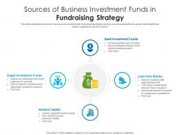 Sources Of Business Investment Funds In Fundraising Strategy