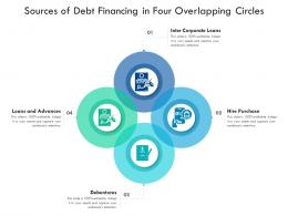 Sources Of Debt Financing In Four Overlapping Circles