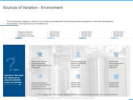 Sources Of Variation Environment Ppt Powerpoint Presentation Infographic Template Background