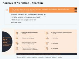 Sources Of Variation Machine Factors M2909 Ppt Powerpoint Presentation Infographic Template
