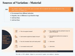 Sources Of Variation Material In Production Ppt Powerpoint Presentation Summary Guidelines