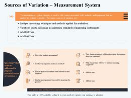 Sources Of Variation Measurement System To Frame Ppt Powerpoint Presentation Styles Graphic Images