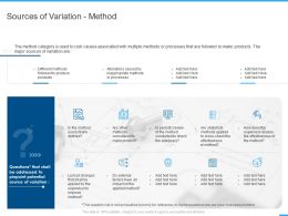 Sources Of Variation Method Ppt Powerpoint Presentation Show Background Image