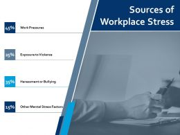 Sources Of Workplace Stress Work Pressures Ppt Powerpoint Presentation Portfolio Maker