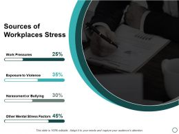 Sources Of Workplaces Stress Ppt Powerpoint Presentation Layouts Background Image