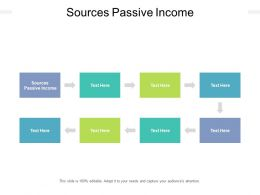 Sources Passive Income Ppt Powerpoint Presentation Professional Graphic Images Cpb