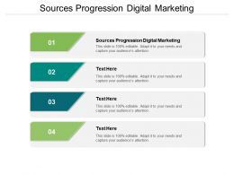 Sources Progression Digital Marketing Ppt Powerpoint Presentation Visuals Cpb