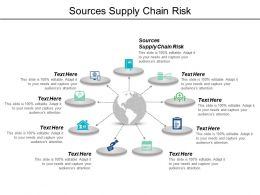 Sources Supply Chain Risk Ppt Powerpoint Presentation Icon Tips Cpb