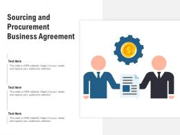 Sourcing And Procurement Business Agreement