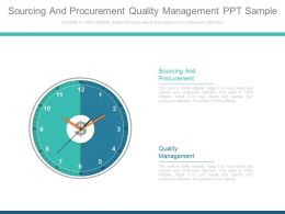 Sourcing And Procurement Quality Management Ppt Sample