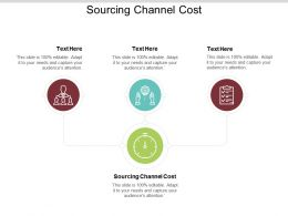 Sourcing Channel Cost Ppt Powerpoint Presentation File Tips Cpb