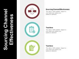 Sourcing Channel Effectiveness Ppt Powerpoint Presentation File Deck Cpb