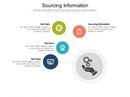 Sourcing Information Ppt Powerpoint Presentation Outline Design Templates Cpb