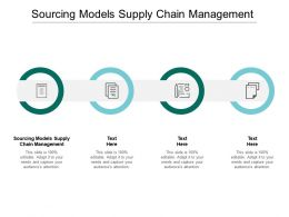 Sourcing Models Supply Chain Management Ppt Powerpoint Presentation Icon Inspiration Cpb