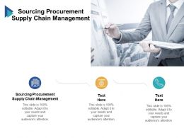 Sourcing Procurement Supply Chain Management Ppt Powerpoint Summary Cpb