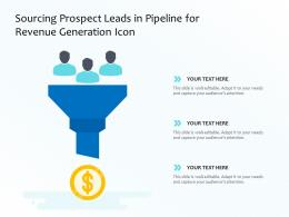 Sourcing Prospect Leads In Pipeline For Revenue Generation Icon