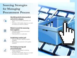 Sourcing Strategies For Managing Procurement Process