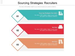 Sourcing Strategies Recruiters Ppt Powerpoint Presentation Gallery Icons Cpb