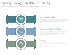 Sourcing Strategy Template Ppt Gallery
