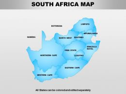South Africa Powerpoint Maps