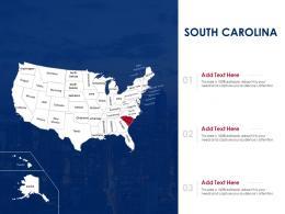 South Carolina Map Powerpoint Presentation PPT Template