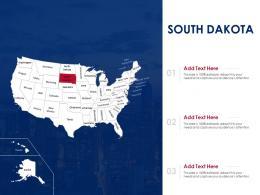 South Dakota Map Powerpoint Presentation PPT Template