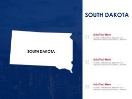 South Dakota Powerpoint Presentation PPt Template