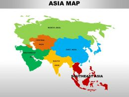 South East Asia Continents PowerPoint maps