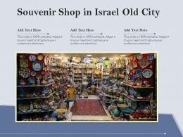 Souvenir Shop In Israel Old City