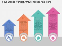 Sp Four Staged Vertical Arrow Process And Icons Flat Powerpoint Design
