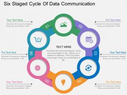 sp Six Staged Cycle Of Data Communication Flat Powerpoint Design