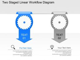 Sp Two Staged Linear Workflow Diagram Powerpoint Template