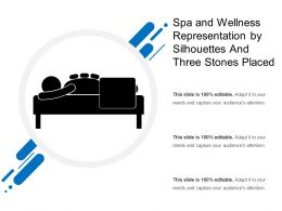 Spa And Wellness Representation By Silhouettes And Three Stones Placed