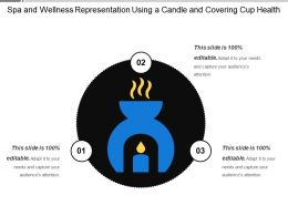 Spa And Wellness Representation Using A Candle And Covering Cup Health