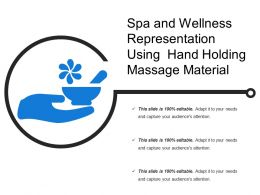 Spa And Wellness Representation Using Hand Holding Massage Material