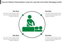 Spa And Wellness Representation Using One Lying Man And Another Massaging Another
