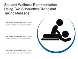Spa And Wellness Representation Using Two Silhouettes Giving And Taking Massage