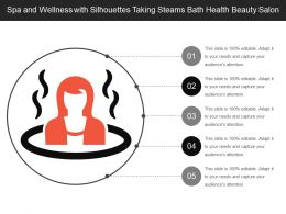 Spa And Wellness With Silhouettes Taking Steams Bath Health Beauty Salon