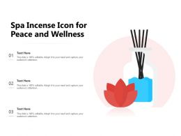 Spa Incense Icon For Peace And Wellness