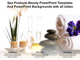Spa Products Beauty Templates And Backgrounds With All Slides Ppt Powerpoint