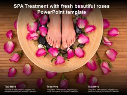 SPA Treatment With Fresh Beautiful Roses Powerpoint Template