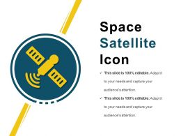 Space Satellite Icon Powerpoint Shapes