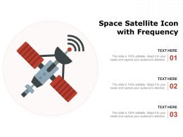 Space Satellite Icon With Frequency