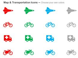 space_shuttle_bicycle_ambulance_motorcycle_ppt_icons_graphics_Slide02