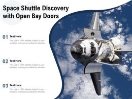 Space Shuttle Discovery With Open Bay Doors