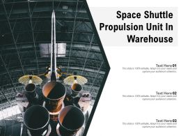 Space Shuttle Propulsion Unit In Warehouse