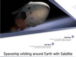 Spaceship Orbiting Around Earth With Satellite